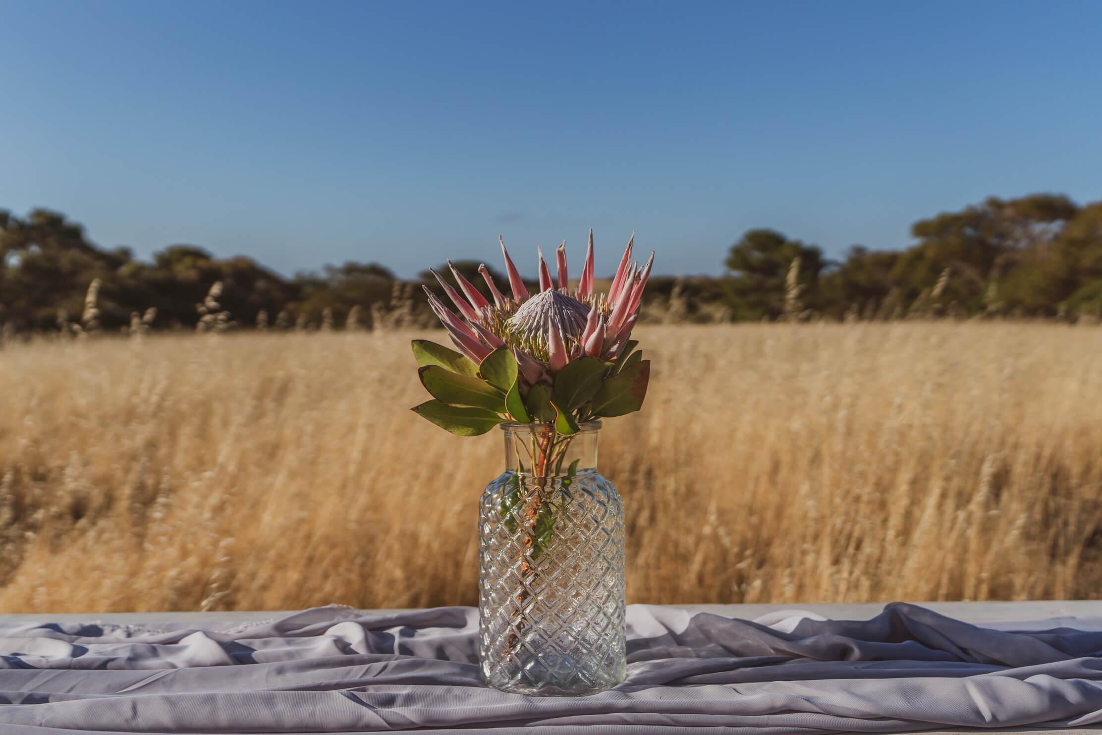 Large patterned glass vase