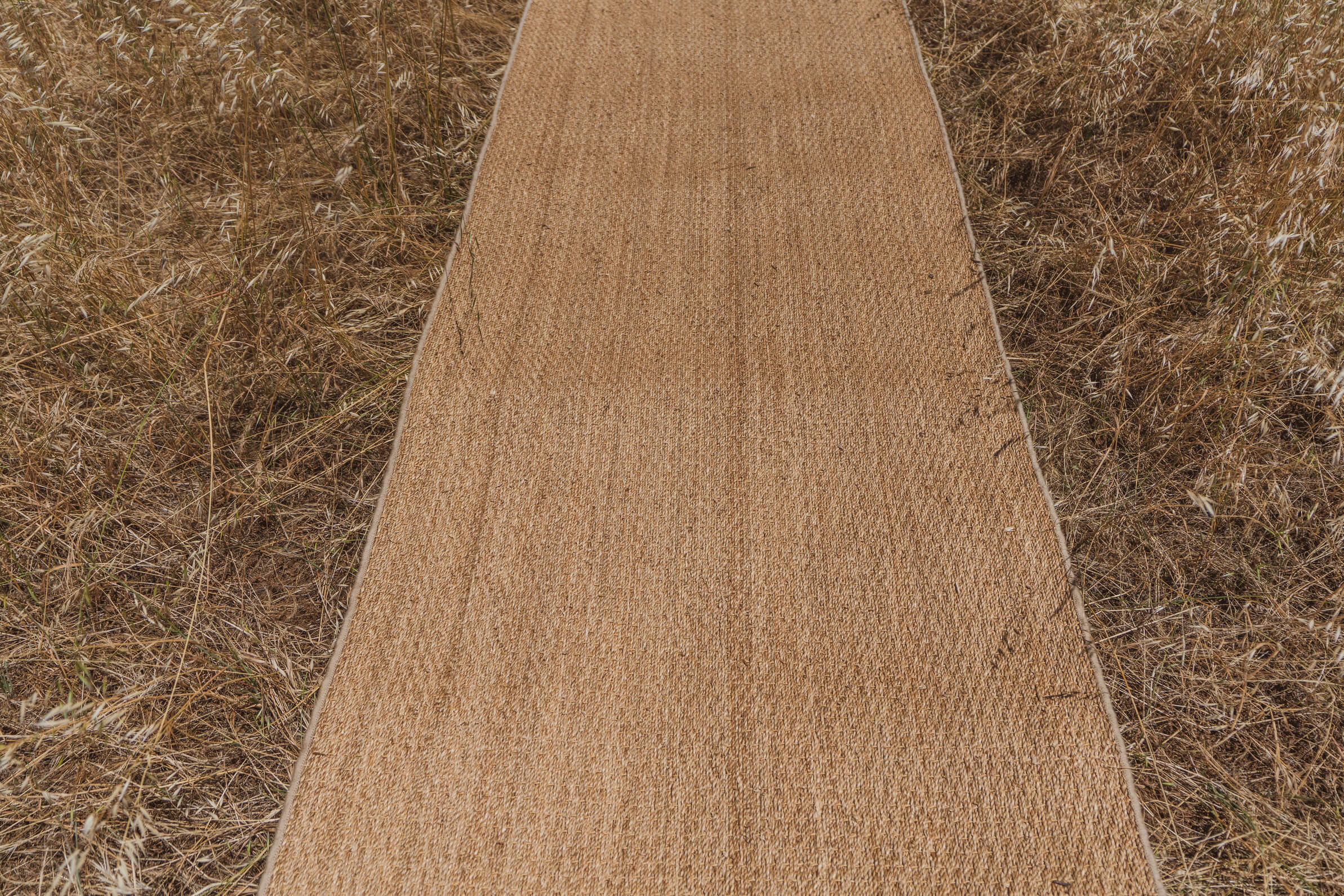 Seagrass carpet runner